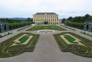 Prywatne ogrody w pałacu Schönbrunn w Wiedniu w Austrii
