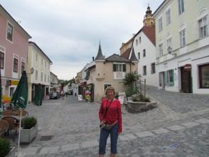 Rathausplatz w Melk w Austrii