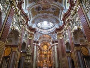 Kościół w opactwie w Melk w Austrii