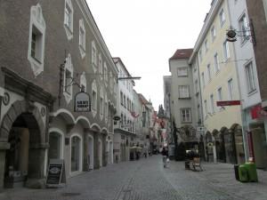 Ulica Enge Gasse w Steyr w Austrii