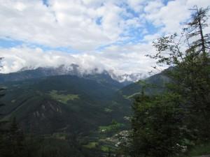 Widok z drogi do Eisriesenwelt Höhle w Austrii