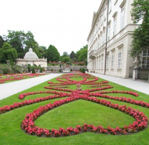 Park Mirabell w Salzburgu w Austrii
