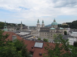 Panorama Salzburga w Austrii
