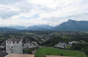 Góry otaczające Salzburg w Austrii