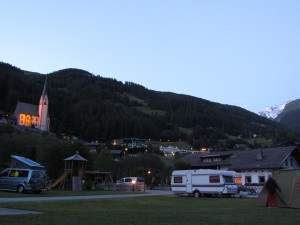 Nationalpark Camping Großglockner w Heiligenblut w Austrii