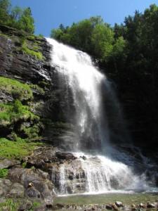 Wodospad Melnik Fall na Malta Hochalmstraße w Austrii