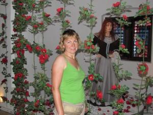 Blumenhexe na zamku Riegersburg w Austrii