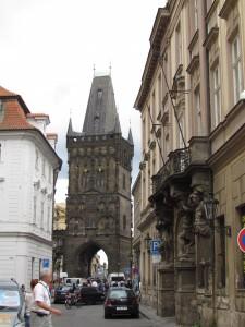 Prašná brána w Pradze