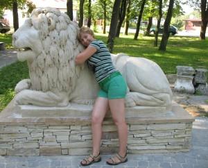 Lew z zamku w Horodle