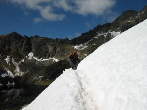 Wejście na przełęcz Zawrat od Doliny Pięciu Stawów
