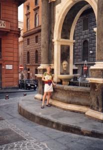Fontanna w Neapolu we Włoszech