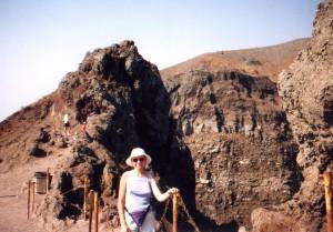 Na szczycie wulkanu Wezuwiusz we Włoszech