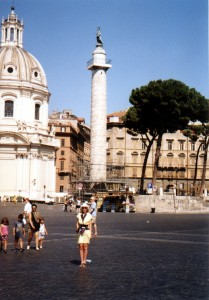 Kolumna Trajana w Rzymie we Włoszech