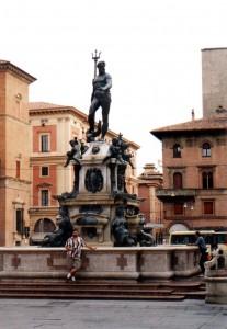 Fontanna Neptuna w Bolonii we Włoszech