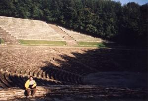Amfiteatr wykuty w skale na Górze Św. Anny