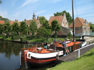 Skansen w Enkhuizen w Holandii