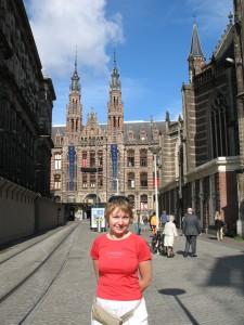 Plac Dam w Amsterdamie w Holandii