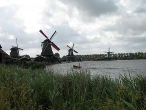 Skansen Zaanse Schans w Holandii