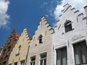 Kamienice w Brugii w Belgii