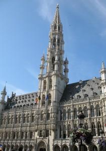 Ratusz (Hotel de Ville) na Grand Place w Brukseli w Belgii