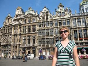 Domy cechowe na Grand Place w Brukseli w Belgii
