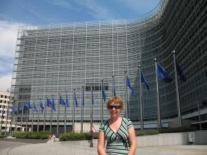 Dzielnica Unii Europejskiej w Brukseli w Belgii