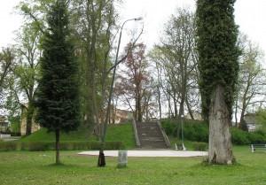 Pozostałości zamku w Resku