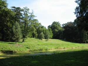 Miejsce, w którym stał zamek w Opatówku