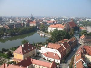 Panorama Wrocławia z wieży katedralnej