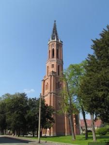 Wieża rozebranego kościoła ewangelickiego w Żaganiu