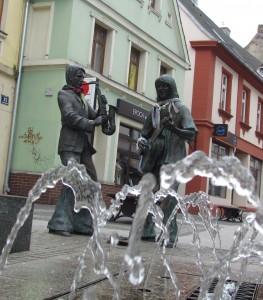 Fontanna na ulicy Chrobrego w Żarach
