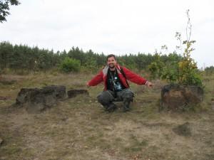 Piece dymarki w rezerwacie archeologicznym w Tarchalicach