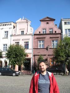 Barokowe kamienice na Rynku w Lesznie