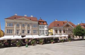 Széchenyi tér w Győr na Węgrzech