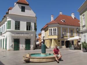 Fontanna mnicha Jedlika, wynalazcy wody sodowej w Győr na Węgrzech
