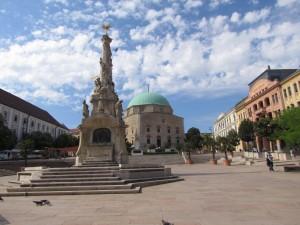 Główny plac Peczu na Węgrzech - Széchenyi tér