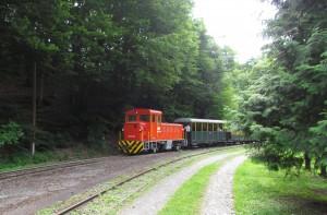 Kolejka w dolinie Szalajka na Węgrzech