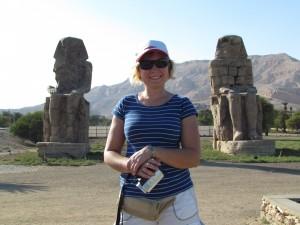 Kolosy Memnona w Luxorze w Egipcie