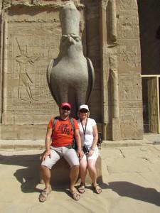 Horus w Edfu w Egipcie