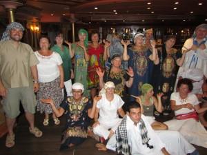 Galabija Party na statku Florence w Egipcie