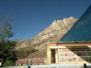 Basen termalny z widokiem na Andy w Chivay