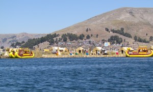 Wyspy Uros na Jeziorze Titicaca w Peru