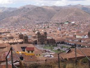 Widok na Cusco z punktu widokowego pod kościołem Św. Krzysztofa