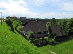 Skansen nieopodal zamku w Dobczycach