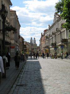 Ulica Wileńska w Kownie na Litwie