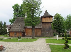 Kościół modrzewiowy p.w. NMP w Jodłowniku