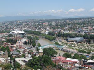 Panorama Tbilisi z Twierdzy Narikala