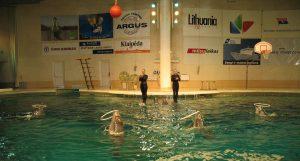 Pokaz w delfinarium w Muzeum Morza w Kłajpedzie na Litwie