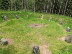 Krąg kamienny w Rezerwacie Archeologicznym w Grzybnicy