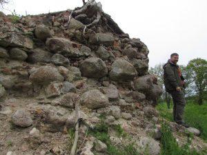 Ruiny zamku w Krępcewie